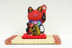 張子の招き猫 赤猫