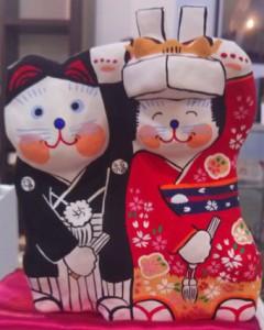 張子の招き猫 結婚
