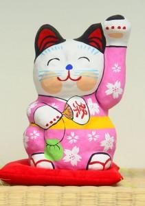 張子の招き猫 白猫