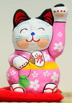 春日部張子人形 張子の招き猫 絵付け体験 参加者募集!!