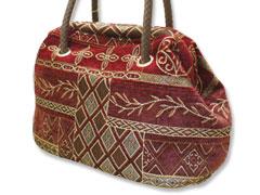ゴブラン織りで作ったバッグ